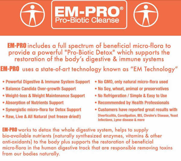 EmPro probiotic candida cleanse supplement